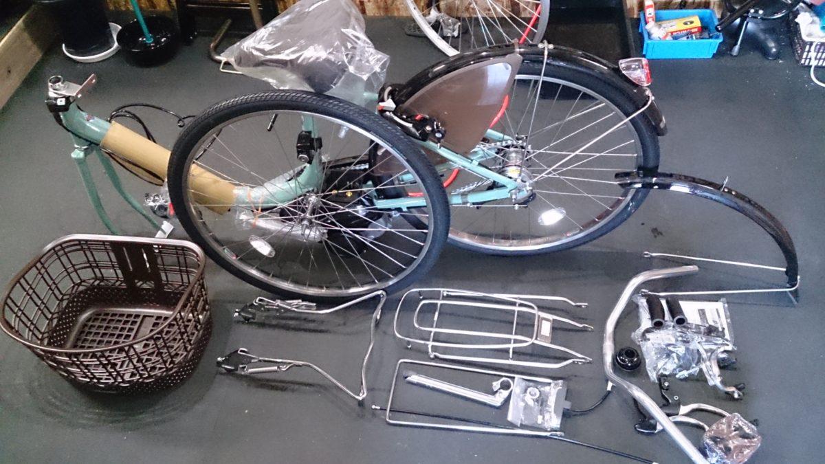 ブリヂストンの電動自転車が入荷したので組み立てていきます!