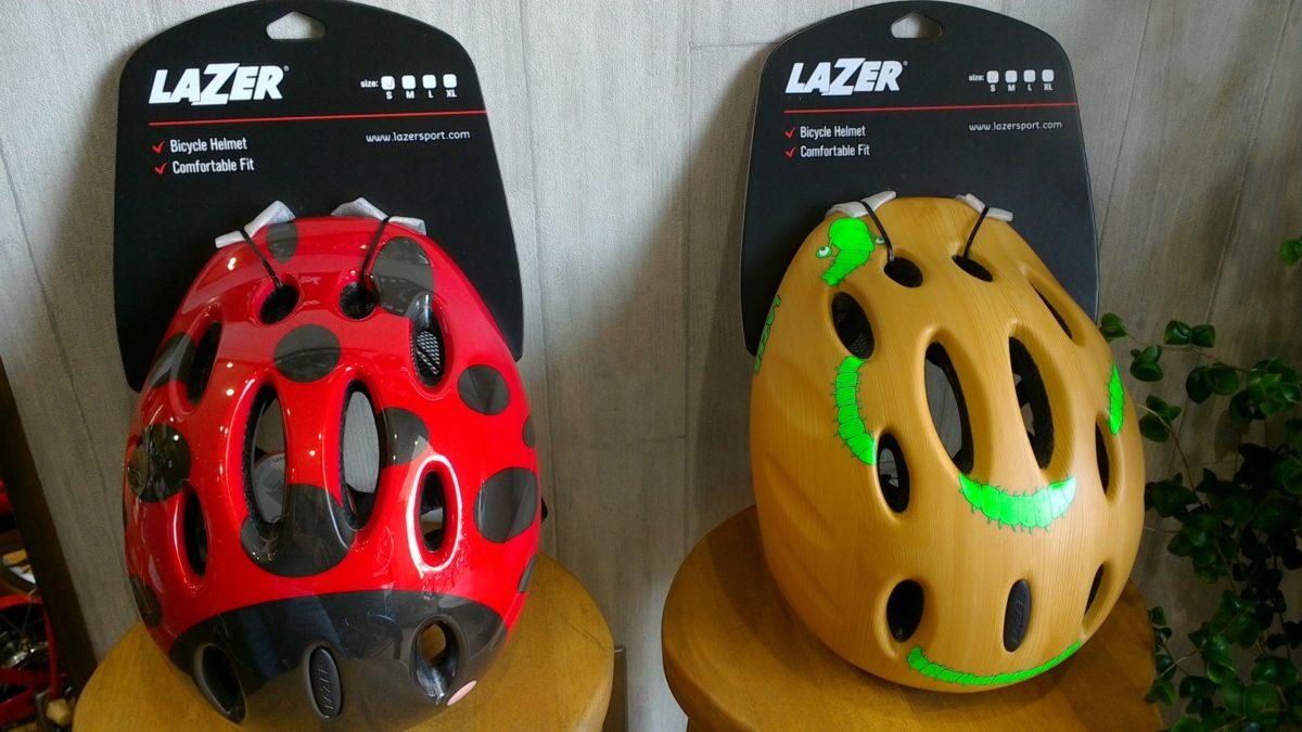 かわいいデザインのお子様用ヘルメット(^^)