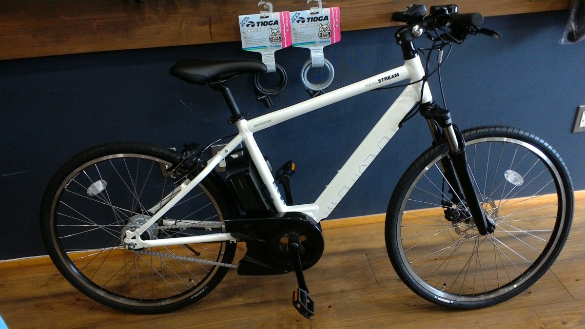 スポーティなライディングも楽しめる電動自転車🚲